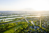 Millennium Tower and River Danube, Vienna, Austria, Europe Photographic Print by Karl Thomas