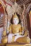 Buddha Statue, Thanboddhay Paya Temple, Monywa, Myanmar (Burma), Asia Photographic Print by Christian Kober