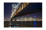 Under The Bay Bridge Treaure Island - View Of San Francisco at Night From Treasure Island Photographic Print by Henri Silberman