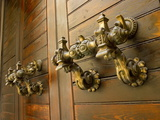 Door Handles, Valletta, Malta, Europe Photographic Print by Nick Servian