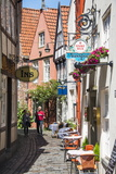 Little Alleys in the Old Schnoor Quarter, Bremen, Germany, Europe Photographic Print by Michael Runkel