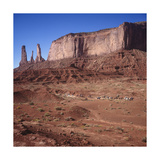 Monument Valley, Arizona Horseback Riders - Iconic Western Landscape Photographic Print by Henri Silberman