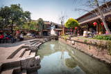 Creek at Square Market in Lijiang, Yunnan, China, Asia Photographic Print by Andreas Brandl