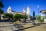 Town Square of Puerto Plata with Cathedral of St. Philip the Apostle Photographic Print by Michael Runkel