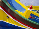 Detail of a Fishing Boat, St. Paul's Bay, Malta, Mediterranean, Europe Photographic Print by Nick Servian