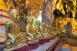 Buddha Statues in Entrance to Shwe Oo Min Natural Cave Pagoda, Pindaya, Myanmar (Burma), Asia Photographic Print by Christian Kober