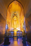 Buddha Statue, Ananda Temple, Bagan (Pagan), Myanmar (Burma), Asia Photographic Print by Christian Kober