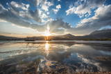 Cloud Reflections at a Lake in Lijiang, Yunnan, China, Asia Photographic Print by Andreas Brandl