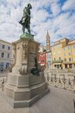 Statue of the Composer Giuseppe Tartini, Piran, Primorska, Slovenian Istria, Slovenia, Europe Photographic Print by Karl Thomas