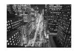 Park Avenue at Night - Aerial View Of Midtown Manhattan Iconic Nyc Photographic Print by Henri Silberman