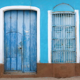 Detail of Colourful Painted Colonial House, Trinidad, Sancti Spiritus Photographic Print by Lee Frost