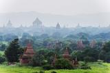 Temples on Bagan Plain, Bagan (Pagan), Myanmar (Burma), Asia Photographic Print by Christian Kober