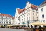 Raekoja Plats (Town Hall Square), Old Town of Tallinn, Estonia, Baltic States, Europe Photographic Print by Nico Tondini