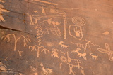 Native American Petroglyphs, Valley of Fire State Park, Nevada, Usa Photographic Print by Ethel Davies