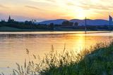 Urban Recreation Area, Danube Island (Donauinsel), River New Danube (Neue Donau) Photographic Print by Karl Thomas