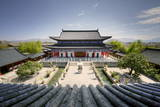 A View Down on Courtyard and Building in Classical Chinese Architecture Style at Mufu Photographic Print by Andreas Brandl