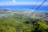 Teleforico, the Only Cable Car in the Caribbean, Puerto Plata Photographic Print by Michael Runkel