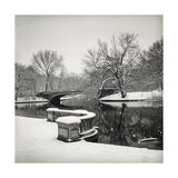 Lullwater Bridge Snow, Prospect Park - Prospect Park, Brooklyn New York Photographic Print by Henri Silberman