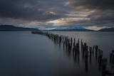 Dusk over the Last Hope Sound, Puerto Natales, Patagonia, Chile, South America Photographic Print by Ben Pipe