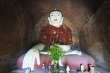 Buddha Statue in Temple, Bagan (Pagan), Myanmar (Burma), Asia Photographic Print by Christian Kober