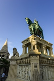 Statue of King Stephan I, Fisherman's Bastion (Halaszbastya) on Castle Hill, Budapest Photographic Print by Karl Thomas