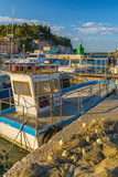 Fishing Nets and Fishing Boat, Old Town Harbour, Piran Photographic Print by Alan Copson
