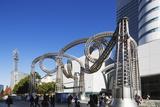 Modern Art Sculpture in Queen's Square, Yokohama, Honshu, Japan, Asia Photographic Print by Christian Kober