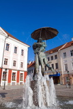 Statue of Lovers (Suudlevad Tudengid), Town Hall Square (Raekoja Plats), Tartu Photographic Print by Nico Tondini