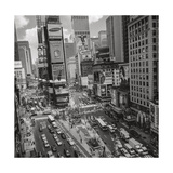 Times Square, NY Afternoon - Aerial View Of Midtown Manhattan Iconic Nyc Photographic Print by Henri Silberman