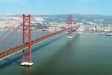 Ponte 25 De Abril (25th of April Bridge) over the Tagus River, Lisbon, Portugal, Europe Photographic Print by G&M Therin-Weise