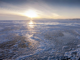 One Metre Thick Ice on the Surface of Frozen Lake Baikal Photographic Print by Louise Murray