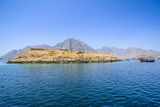 Telegraph Island in the Khor Ash-Sham Fjord, Musandam, Oman, Middle East Photographic Print by Michael Runkel