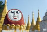Temple Decoration, Nget Pyaw Taw Pagoda, Pindaya, Myanmar (Burma), Asia Photographic Print by Christian Kober