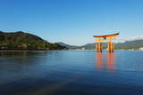 Torii Gate of Itsukushima Jinja Shinto Shrine, Miyajima Island, Hiroshima Prefecture Photographic Print by Christian Kober