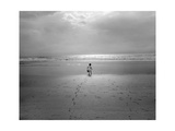 St. Augustine, Florida - Child On The Beach Atlantic Ocean Photographic Print by Henri Silberman