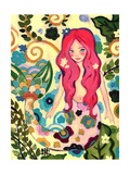 Spring Mermaid Giclee Print by Natasha Wescoat