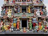 Sri Mariamman Hindu Temple, Singapore, Southeast Asia, Asia Reprodukcja zdjęcia autor Nick Servian