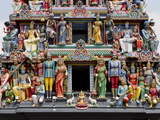 Sri Mariamman Hindu Temple, Singapore, Southeast Asia, Asia Photographic Print by Nick Servian