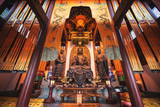 Interior Architecture and Ru Lai Buddha Statue at Lingyin Monastery in Hangzhou, Zhejiang, China Photographic Print by Andreas Brandl