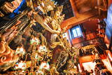 Guanyin Buddha at Yong Fu Temple with Rich Decorations in a Wide Angle Perspective Photographic Print by Andreas Brandl