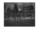 Byrant Park Dusk - Looking South in Bryant Park Manhattan Photographic Print by Henri Silberman