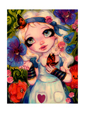 Alice and The Talking Garden Giclee Print by Natasha Wescoat