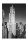 Woolworth Building and Lower Broadway - Aerial View Looking North Photographic Print by Henri Silberman