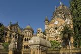 The Victorian Frontage of Vt (Victoria Terminus) (Chhatrapati Shivaji Terminus), Mumbai, India Photographic Print by Tony Waltham