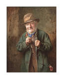 The Buttonhole Premium Giclee Print by Charles Spencelayh
