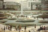Piccadilly Gardens Reproduction procédé giclée par Laurence Stephen Lowry