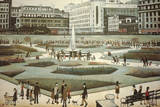 Piccadilly Gardens Giclée-Druck von Laurence Stephen Lowry