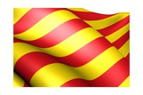 Flag of Catalonia Prints by  Yuinai