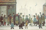 Waiting For The Shops To Open Giclée-Druck von Laurence Stephen Lowry
