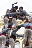Castellers, Girls and Drop-Tower Photographic Print by  KarSol